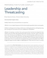 Cover of Leadership and Threatcasting interview